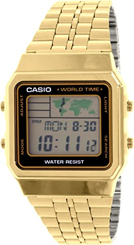 Gold Tone Casio World Stainless A500WGA 1