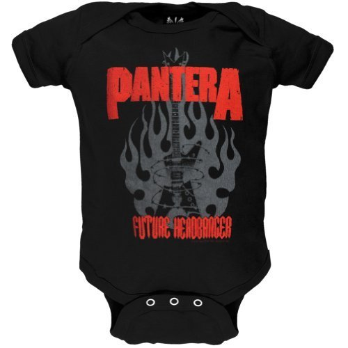 Infant: Pantera- Future Headbanger Onesie Infant Onesie Size 18 Mos - Pantera Rock Music Band