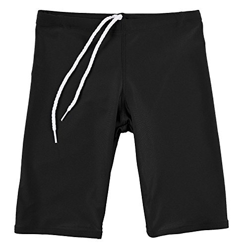 bfa3305e89 GaryM Kids Boys Solid Jammer Swim Suit (Size 7. Black)