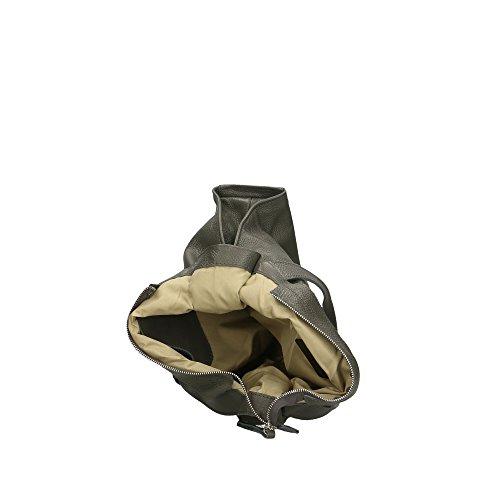 Aren bandoulière italie fabriqué Vert femme en Foncé sac à 34x31x10 pour véritable cuir Cm en 1wrawxE4q