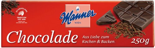 Manner Koch-Schokolade 250g, 5er Pack (5 x 250 g)