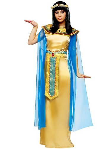 Super Deluxe Cleopatra Costumes (FunWorld Deluxe Cleopatra Diamond Collection, Gold, 12-14 Large Costume)