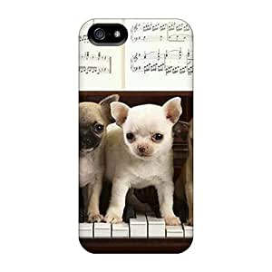 USMONON Phone cases Best seller wen Design High Quality Puppys Playing Piano Cover Case With Ellent Style For Iphone Iphone 5 5s