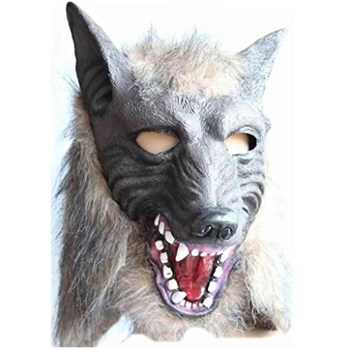 Halloween Wolf Mask Animal Head Scary Creepy Werewolf Mask Cosplay Mask for Party Monster Latex Mask Props Maskers -
