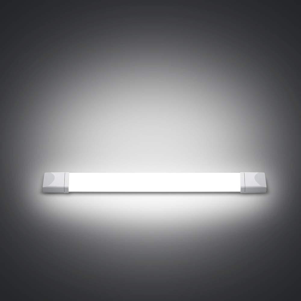 J&C 2X LED luz a Prueba de Humedad 60CM 18W, Tubo LED 1400lm ...