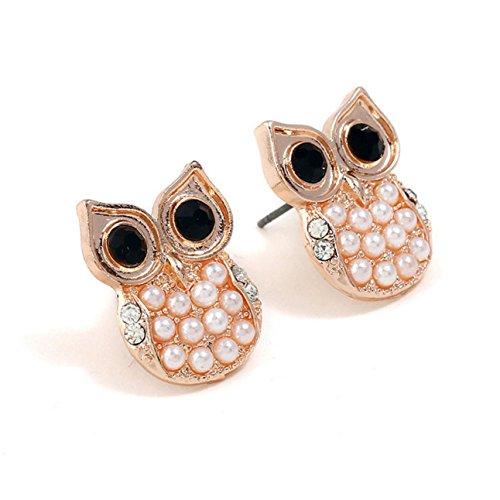 Fashion Jewelry Rhinestones Cute Owl Earring