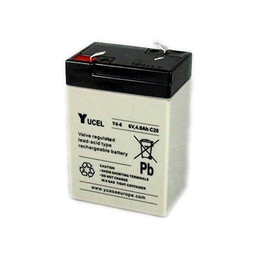 Yuasa Yucel Y4-6 VRLA AGM 6 Volt 4.0Ah Battery