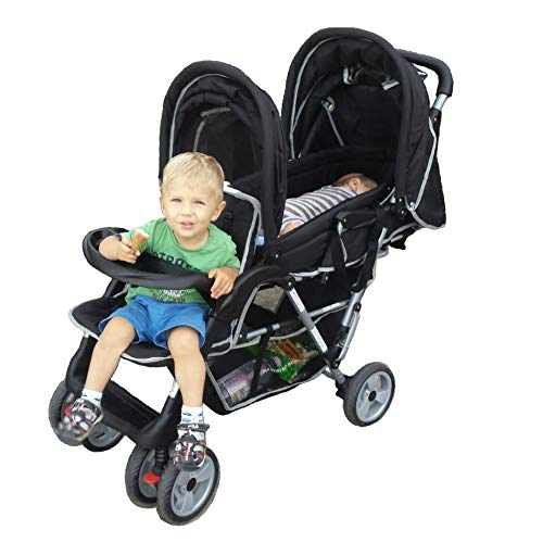 Exclusive Tandem - Twin Pram black - BambinoWorld ABC