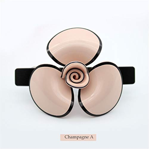 (Headwear Alexander Flower Hairpin For Women Girl Cellulose Acetate Clip - Hair Barrette Tool Accessories champagne PIA74073)