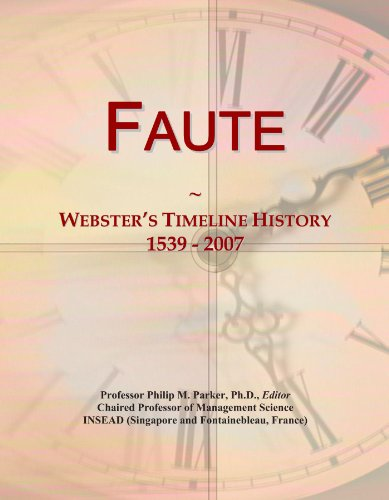 Faute: Webster