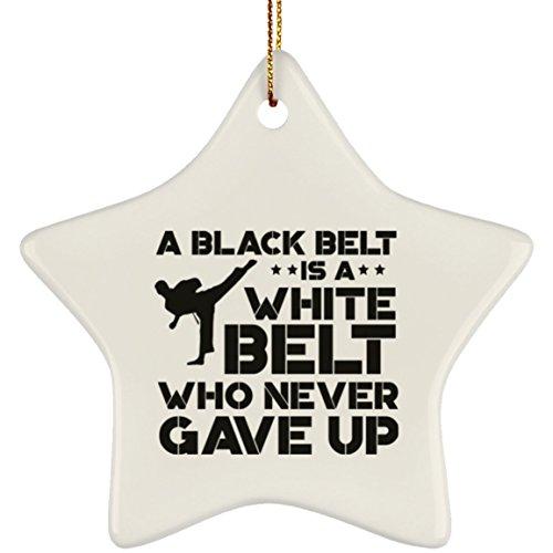 (Black Belt is a White Belt Who Never Gave Up Funny Karate Christmas)