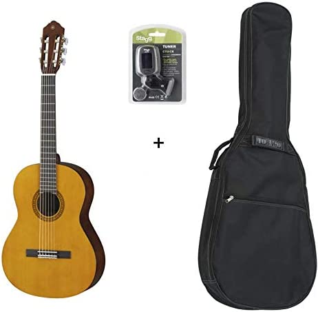 Pack Yamaha CS40 3/4 – Guitarra clásica 3/4 (+ afinador y funda ...