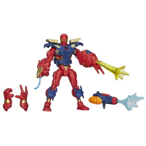 Marvel Super Hero Mashers Electronic Iron Spider Figure - 6 Inches (Spider Heros Marvel)