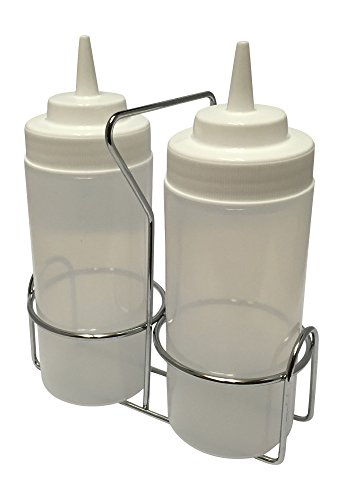 Oil and Water Griddle Squeeze Bottle Set with Caddy (Best Oil For Griddle)