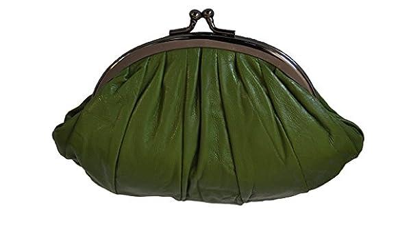 Chiquilla - Monedero cartera doble de mano, color verde ...
