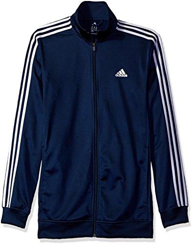 adidas Men's Athletics Essential Track Jacket (Extended Sizes), Collegiate Navy/Black, 3X-Large