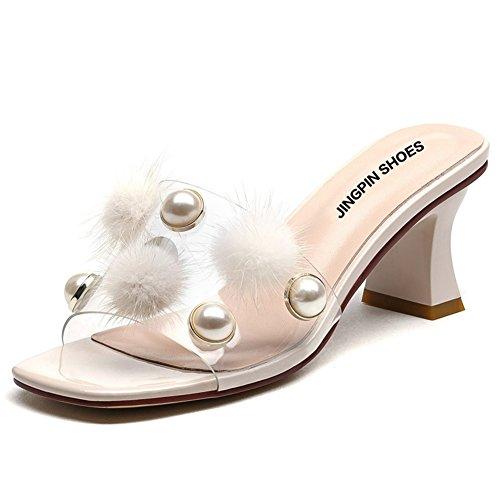 Verano áspero con sandalias de moda/Fuera de las zapatillas de peluche B