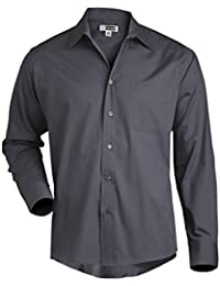 Edwards Garment Men's Long Sleeve Service Broadcloth Dress Shirt
