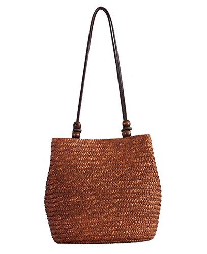 Tonwhar® European Style Straw Bag Purse Woven Summer Beach Tote ()