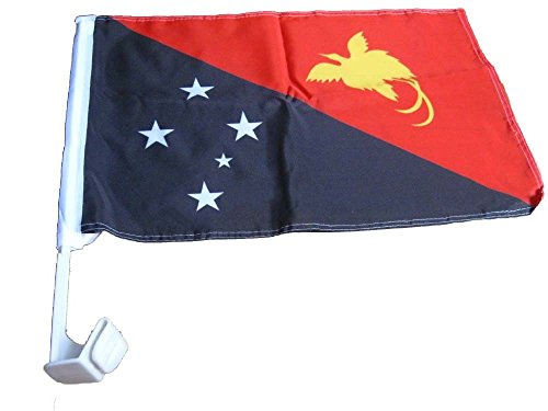 ALBATROS 12 in x 18 in (Pack of 12) Papua New Guinea Country Car Vehicle Flag for Home and Parades, Official Party, All Weather Indoors Outdoors]()