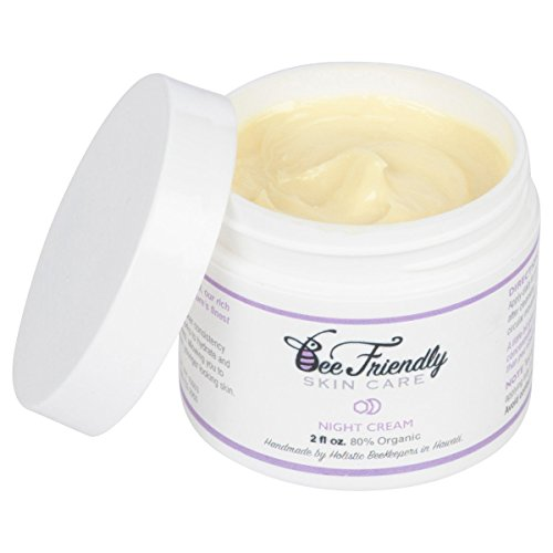 Best Night Cream 100% All Natural & 80% Organic Night Cream By BeeFriendly, Anti Wrinkle, Anti Aging, Deep Hydrating & Moisturizing Night Time Eye, Face, Neck & Decollete Cream for Men and Women from Bee Friendly Skincare