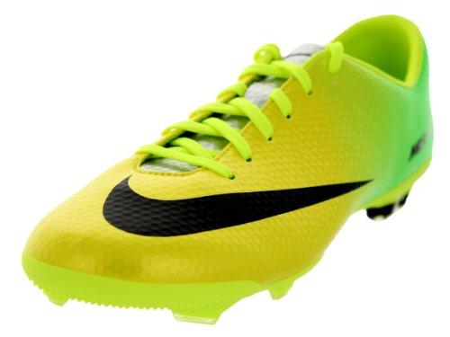 Nike Kids Jr Mercurial Vapor IX FG Vibrant Yellow/Black/Neo Lime Soccer Cleat 5.5 Kids US - Kids Nike Mercurial Carbon