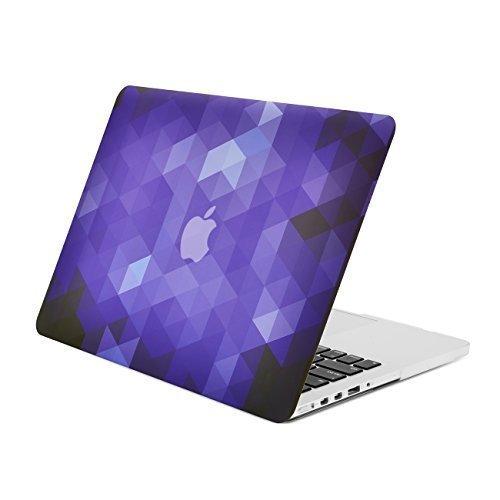 Dark Purple Case (Unik Case Gradient Ombre Triangular Galore Dark Purple Graphic Ultra Slim Light Weight Matte Rubberized Hard Case Cover for Macbook Pro 13