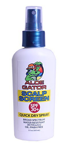 Aloe Gator SPF 30+ Water & Sweat Resistant Screen Scalp Spray