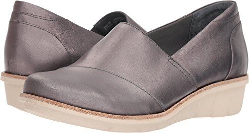 Dansko Women's Julia Loafer Flat, Pewter Metallic Brush Off, 36 M EU (5.5-6 US)