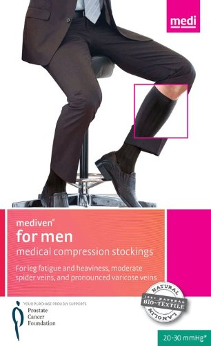 [Mediven for Men 20-30mmHg Knee High Compression Socks : Black Size IV] (Medi Comfort Knee High)