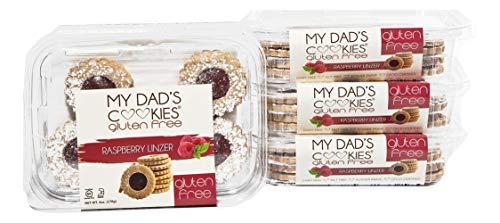 My Dad's Cookies, Gluten Free, Nut Free, Kosher, Dairy Free, 6 oz (Raspberry Linzer Cookie, 2 Pack)