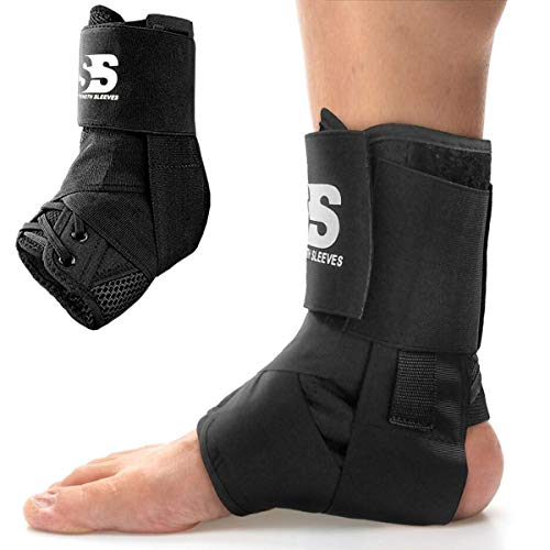Lace Up Ankle Brace for Women and Men. Best Affordable Lace Up Ankle Brace Stabilizer. These Braces Support Ankles for Volleyball, Basketball, Sprained Ankle, Sports, Running. Adjustable Wrap Guard