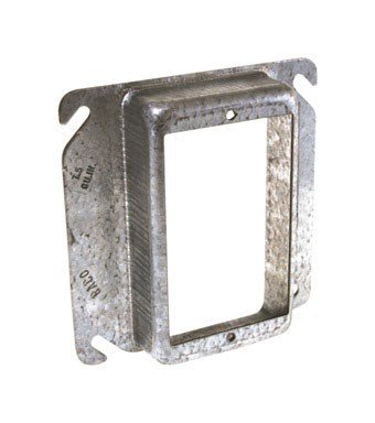 Hubbell Raco 8773 4'' Single Gang Square Raised Box Cover by Raco
