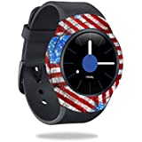 MightySkins Skin For Samsung Gear S2 3G - Flag Drips | Protective, Durable, and Unique Vinyl Decal wrap cover | Easy To Apply, Remove, and Change Styles | Made in the USA