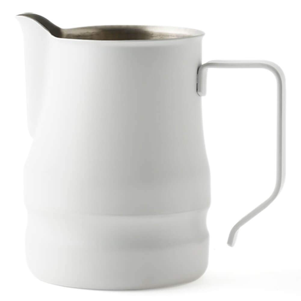 Ilsa Evolution Milk Frothing Pitcher Professional Latte Art Milk Steaming Jug Stainless Steel, White - 500ml / 16oz