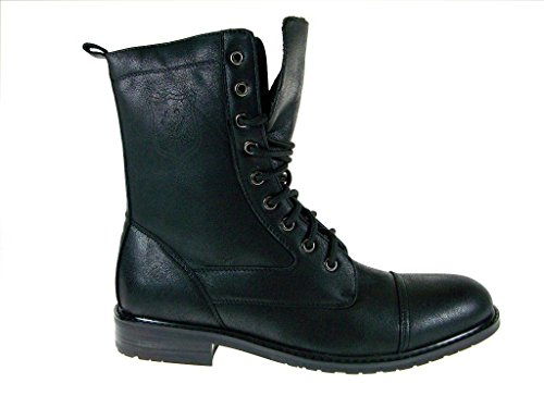 Polar Fox Men's 801026 Calf High Military Lace Up Combat Boots