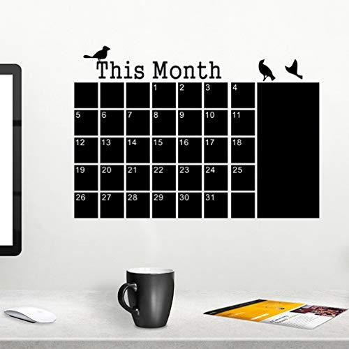 Wall Sticker,DIY This Month Birdie Calendar Blackboard Sticker