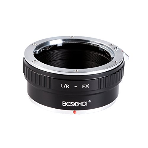 Beschoi Lens Mount Adapter for Leica R Mount Lens to Fujifilm FX Mount X-Series Camera Body, Fits Fuji X-Pro1 X-Pro2 X-E1 X-E2 X-M1 X-A1 X-A2 X-A3 X-A10 X-M1 X-T1