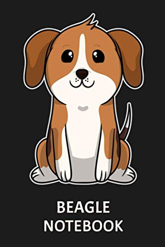 Beagle Notebook: Notebook with 109 lined pages 6 x 9 inch. For Beagle dog owners of cute puppies to take notes about their growing up. Also a great notebook for dog lovers.