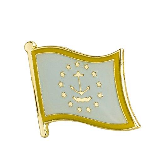 (Rhode Island Flag Lapel Pin 19 x 16mm Hat Tie Tack Badge Pin)