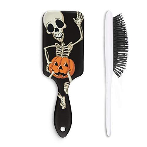 Skull pumpkin halloween skeleton Hairbrush For Unisex Cool Hair Comb Detangling Wet Hair For HairBrush -