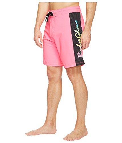 (Body Glove Men's Vapor Lazer Zapp 4-Way Stretch 19 Inch Boardshort Swim Trunk, Neon Pink,)