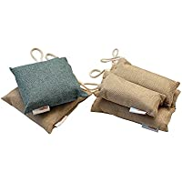 6 Pack, 3 Sizes Bamboo Charcoal Air Freshener/Deodorizer/Purifier Bags from Mar Valley; All Natural Chemical-free; Absorbs Odors/Moisture;Use in Car, Closets, Pet Areas, Shoes, Gym Bags, Refrigerator