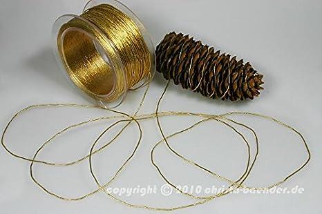 Christa-B/änder Schnur Elastikschnur Silber ohne Draht 1-2mm