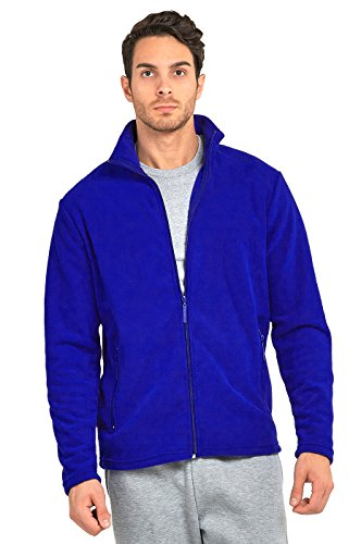 Knocker Teejoy Men's Polar Fleece Zip Up Jacket (XL, R.Blue) - Mens Polar Fleece