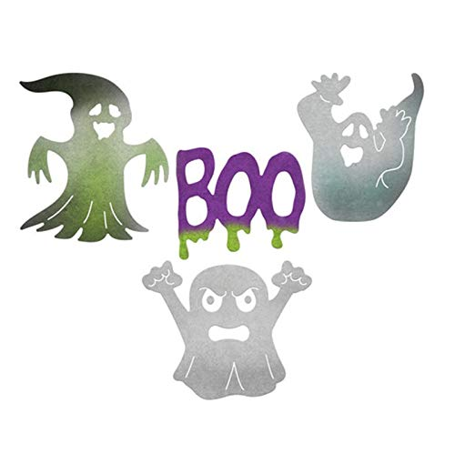 Davitu Ghost Boo Metal Cutting Dies Halloween Stencils for DIY Scrapbooking Album Paper Card Decor Craft Embossing New -