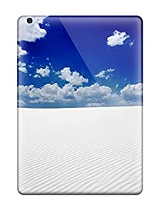 Ipad Air Hard Back With Bumper Silicone Gel Tpu Case Cover Desert Earth Nature Desert