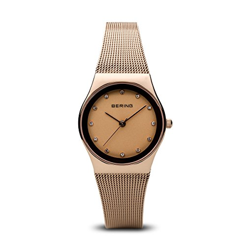BERING Time 12927-366 Womens Classic Collection Watch with Mesh Band and scratch resistant sapphire crystal. Designed in Denmark.