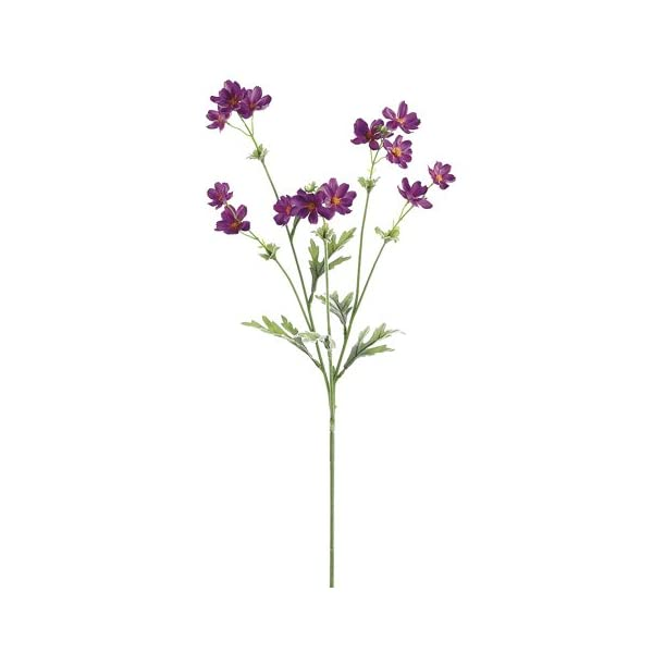 27.5″ Silk Baby Cosmos Flower Spray -Purple (Pack of 12)
