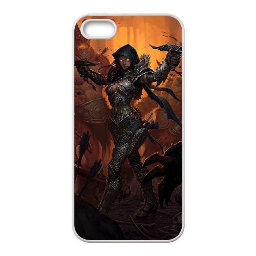 Y5W65 Diablo III B9M6ZQ coque iPhone 4 4s cellulaire cas de téléphone couvercle coque blanche DL5LMD1PI